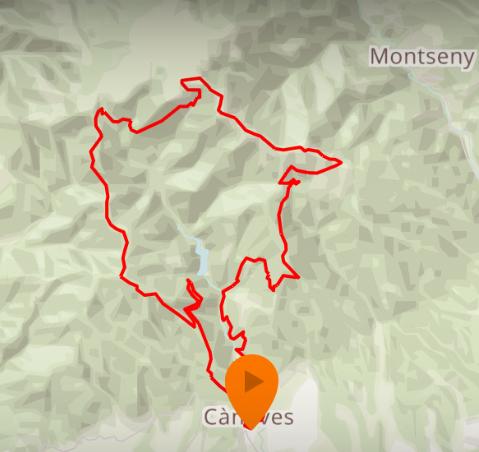 Recorrido Trail de Vallforners